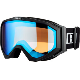 Bliz Edge Drop Lunettes, matte black/light orange/blue multi